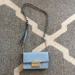 Michael Kors cross body bag in light blue